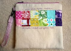 Gen X Quilters: Embroidery To-Go Pouch & Daisychain ABC Crewelwork Sampler