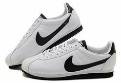 online retailer c4703 fd28c Cheap 2014 New Products Nike Classic Cortez Leather Men White Black Running  Shoes Outlet USA