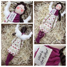 Manufaktura Aniolow (fb) / dark pink angel / little tilda angel / sewing angel / tilda doll / most beautiful  angel