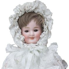 "13"" (33 cm.) Antique All Original German Bisque Three-Faced Character from respectfulbear on Ruby Lane"