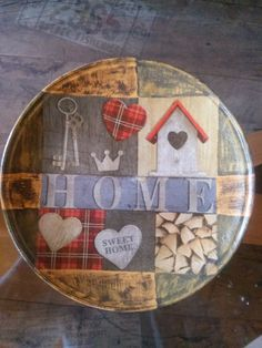 Home sweet home (plate)