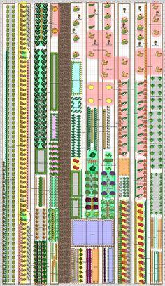 idea for garden or pattern, community garden plan, garden in progress, like community