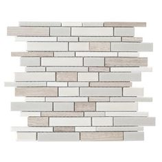 Crackled Linear Silk Glazed Porcelain Mosaic Indoor/Outdoor Wall Tile (Common: 12-in x 14-in; Actual: 12-in x 12.6-in)