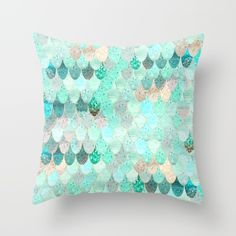 Buy SUMMER MERMAID Throw Pillow by Monika Strigel. Worldwide shipping available at Society6.com. Just one of millions of high quality products available.