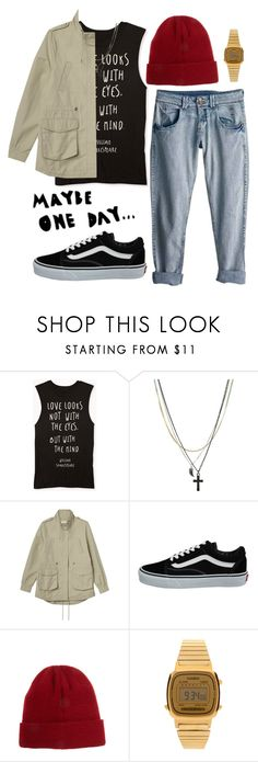 """One day"" by serenaandrew ❤ liked on Polyvore featuring Rip Curl, Forever 21, ASOS, Monki, Vans and Casio"