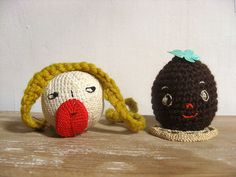 Embroidered heads