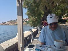 Me in Olive Press hotel & beach, Molyvos, Lesvos, GR.  July 2017