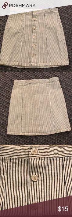 Brandy Melville stripe skirt Brandy Melville stripe skirt! Worn a few times - no label on skirt but it runs small. No damage! Great condition! Brandy Melville Skirts Mini