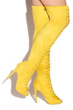 Lola Shoetique - Vicious - Canary, $59.99 (http://www.lolashoetique.com/vicious-canary/)