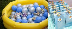 Ideas for a Finding Nemo party.. baby party, but doing the fishing game in a kiddie pool with balls is not a bad idea