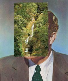 Collage art by John Stezaker. Collage Book, Collage Drawing, Collage Illustration, Collages, Photomontage, Artistic Photography, Landscape Photography, John Stezaker, Monochrome