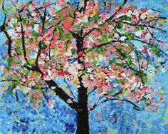 Cherry Blossoms 13 201701 Painting by Alyse Radenovic