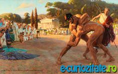 Referee Watches Greek Wrestlers In Ancient Olympic Games Tom Lovell – Ancient Greek Olympic Games, Ancient Olympics, Ancient Greek City, Ancient Rome, Ancient Greece, Ancient History, Ancient Greek Sports, Greek Wrestling, Olympic Wrestling