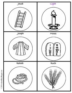 Jesse Tree Print Outs For The Kids To Color At Christmas