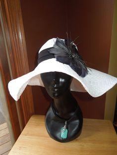 9dd24637a22 Floppy Sun Hat w  Flower Appliqué Women by EdgyChic on Etsy