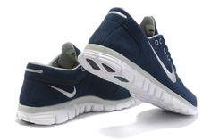 hot sales 7656c 1f7a8 comprar barato Mujer Free 3.0 V2 Contra Piel Zapatos Profundo Azul Blanco  en la tienda online.