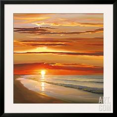 Sunset on the Water Framed Art Print by Dan Werner at Art.com