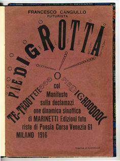 F. Cangiullo: Piedigrotta, cover, 1916