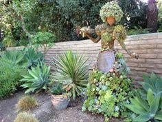 Succulent art at the San Diego Botanic Gardens.