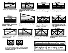 All the different styles we do in wooden gates manawatu