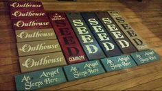 4-28-2015 Few new signs made tonight ... over 1,000+ items in our Etsy shop! Www.uniqueprimtiques.com and www.etsy.com / shop / uniqueprimtiques #customcolors #customsizes #primitivefurniture #rusticfurniture #primitive #rustic #primitivedecor #rusticdecor #homedecor #handmade #customwoodworking