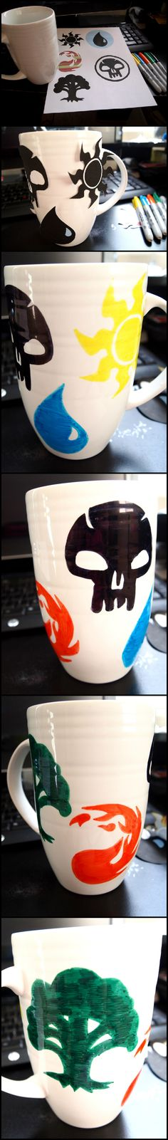 Magic The Gathering coffee mug. I want this to be my first thrown mug...
