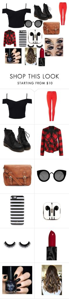 """""""My babysitters a vampire.."""" by onedlily ❤ liked on Polyvore featuring beauty, New Look, BlendShe, Dex, Quay, Kate Spade and PhunkeeTree"""