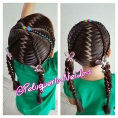 Un #Bello Peinado  para una linda #Princesa  Cuando se tiene ganas todos es posible   Si estas interesad@ en participar en nuestros cursos comunicate al 0414-7011674 ☎ #PeinadosInfantiles #Niñas #Trenzas #Encintados #CursosDePeinados #PeluqueriaInfantil #PeluqueriaDeNiñas #Glamour #Creatividad #SiempreCreando #Braids #Haird #HairdStylesForGirls #PeluqueriaNeidas #ClienteFeliz #Venezuela