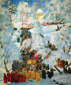 Борис Кустодиев. Крещенское водосвятие