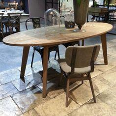 Table à manger ovale en chêne Darwin Hanjel prix Table Decoclico 1 529.00 €