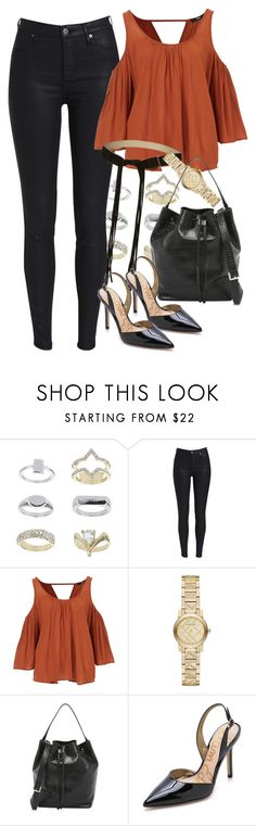 """""""Untitled #1995"""" by erinforde ❤ liked on Polyvore featuring Topshop, Burberry, Rachael Ruddick, Sam Edelman and thestyleicon"""