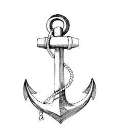 Anchor Art Print by dilettas Tattoo L, Mantra Tattoo, Tattoo Outline, Anchor Compass Tattoo, Anchor Tattoo Design, Small Anchor Tattoos, Unique Tattoos For Men, Tattoos For Guys, Quetzalcoatl Tattoo