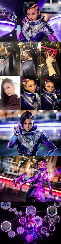 Thisi is wonderful! Overwatch Sombra cosplay costume by Pion Kim #overwatch #sombra #cosplay #costume