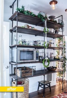 Pantry Before & After: An Empty Hallway Turned Pipe Shelf Pantry — Pantry Makeover | The Kitchn
