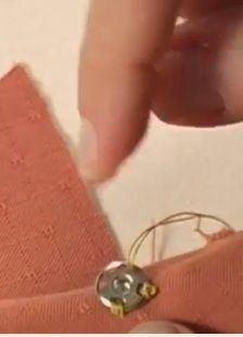 Video Tutorial for Couture stitch for securing snaps, eyes etc to a garment
