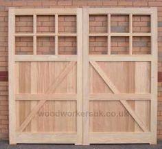 Conway hardwood garage doors - Manufactured in Hardwood