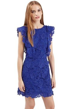 Topshop Lace A-Line Dress available at #Nordstrom