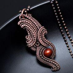 New wire wrap pendant tutorial at www.nicolehannajewelry.com Learn to wire wrap! Copper jewelry, woven jewelry, wire wrap pendants and diy jewelry