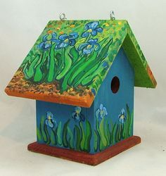Gardens Ideas, Hands Painting, Etsy Birds, Birdie, Birdhouses Etsy, Birds House, Painting Birds, Painting Birdhouses, Painting Ideas