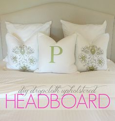 This past weekend I decided to make a new headboard out of a dropcloth I picked up at the hardware store.   I really love the way i...