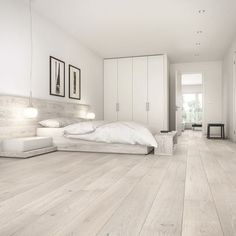 Barlinek Sense Oak Gentle Engineered Wood Flooring Barlinek Oak Gentle is an engineered extra wide plank floor with a cream brushed matt lacquer finish, offering a fresh elegance and unsurpassed beauty to any space. White Vinyl Flooring, White Oak Floors, Wide Plank Flooring, Engineered Wood Floors, Timber Flooring, Flooring Ideas, Light Wood Flooring, Modern Wood Floors, Light Grey Wood Floors