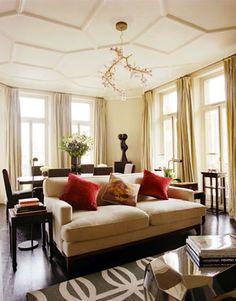 London home of Nadja Swarovski, of Swarovski Crystal fame, in the latest issue of Harper's Bazaar