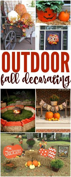 I have some AMAZING Outdoor Fall Decorating Ideas for your Home today! Right now you can make some great  via @Passion4Savings