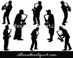 beautiful silhouette to illustrate and design music vector graphics, Saxophone Player Silhouette Vector come in various styles of music players. Music Silhouette, Silhouette Vector, Vector Graphics, Vector Free, Saxophone Players, Vector Design, Saxophones, City, Crafts
