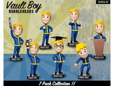 Fallout 4 Vault Boy 111 Bobblehead Series 2 - Set of 7 - Fallout Figures