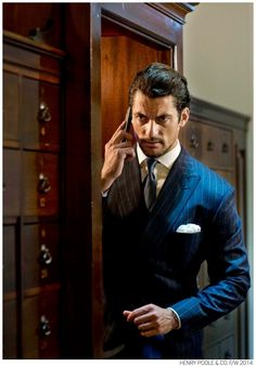 David Gandy Wears Elegant Suits for Henry Poole & Co. Fall/Winter 2014 Campaign image David Gandy Henry Poole and Co Fall Winter 2014 Campaign 001 Henry Poole, Style Dandy, Men's Style, Style Men, Style Gentleman, Dapper Gentleman, Look Fashion, Mens Fashion, David James Gandy