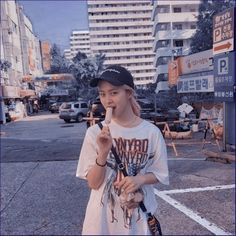 Honestly i dont know wheres this photo from, but she looks cool and cute with that outfit and ice… Kpop Aesthetic, Aesthetic Photo, Celebrity Outfits, Looks Cool, Ulzzang Girl, These Girls, K Idols, Girl Crushes, Kpop Girls