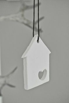 Hanging ornament, make key imprint. And add words. Our first home