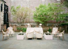 Rustic and elegant backyard lounge