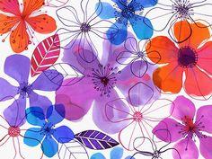 Margaret Berg Art: Purple+Hibiscus